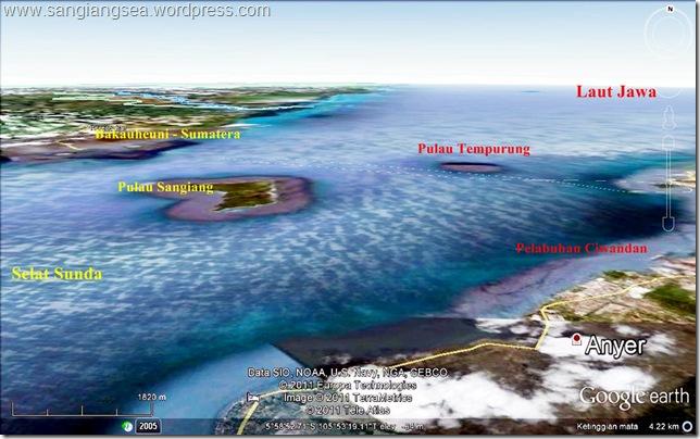peta selat sunda dan pulau sangiang